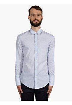 10 Men's Slim Fit Striped Cotton Shirt