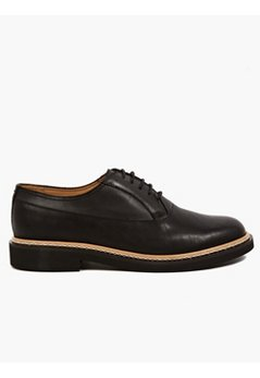 22 Men's Black Leather Derby Shoes
