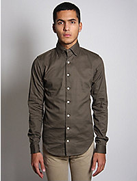 Nom De Guerre Twill Cotton Shirt