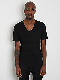 Neil Barrett Regular V-Neck Stripe T-Shirt