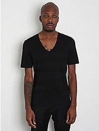 Neil Barrett Regular V-Neck Stripe T-Shirt