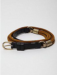 Neil Barrett Cord Belt W/ Leather Buckle