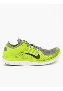 Men's Yellow Flyknit Free 4.0 Sneakers