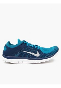 Men's Blue Flyknit Free 4.0 Sneakers