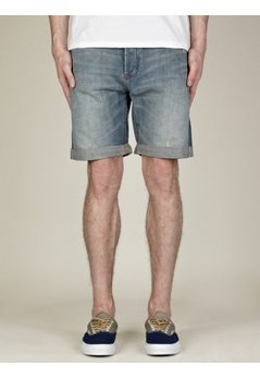 Men's Jakob Selvedge Washed Denim Shorts