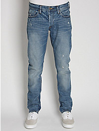 NN.07 James Regular Selvedge Distressed Wash Denim Jeans