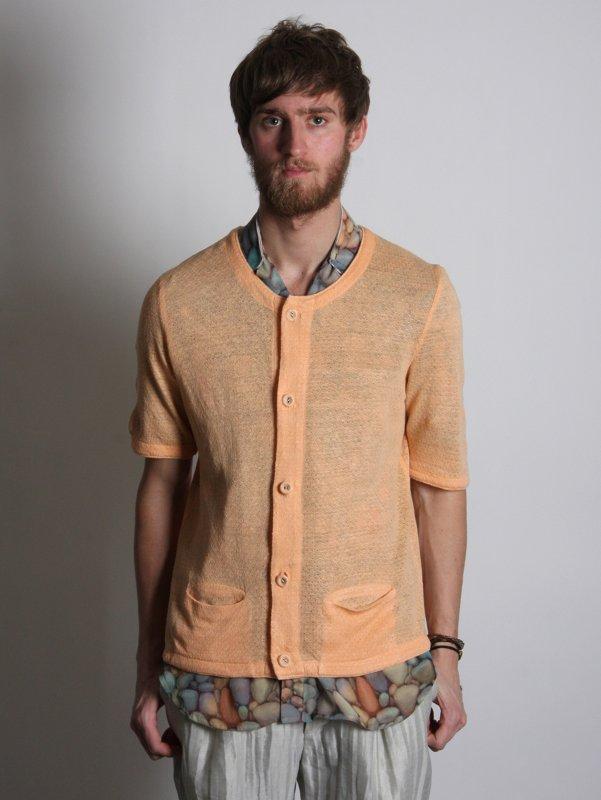 Omar Kashoura Short Sleeved Cardigan Flat Bind