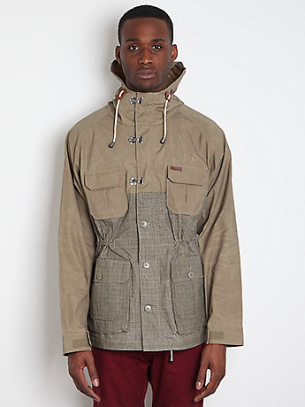 The Penfield Trailwear Collection Vassan Wax PF0768S12: Khaki Plaid