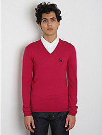 Raf Simons / Fred Perry V-Neck Sweater