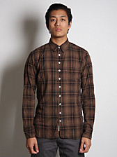 Rag and Bone 3/4 Placket Plaid Shirt