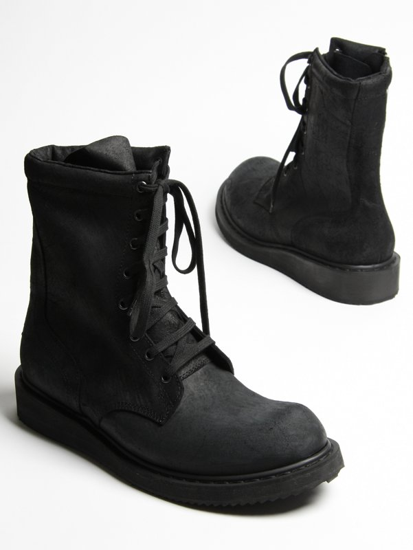 Rick Owens Lace Up Boot