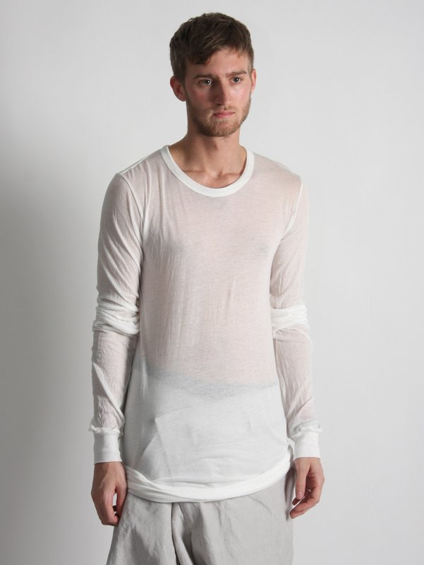 Rick Owens Woven Long Sleeve T-shirt