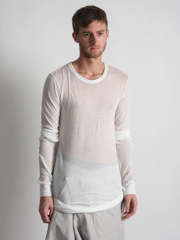 Rick Owens Woven Long Sleeve T-shirt