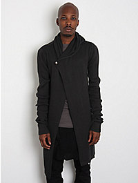 Rick Owens Anthem Men's Hooded Long Cardigan