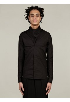 Men's Megacoel Black Cotton Shirt