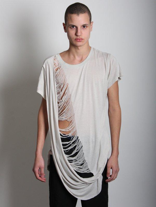 ROCHAMBEAU Deconstructed Drape T-Shirt