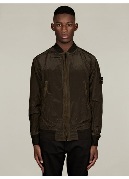 Men's Nylon Metal Bomber Jacket