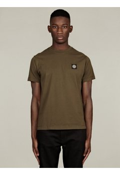 Men's Green Basic Cotton T-Shirt