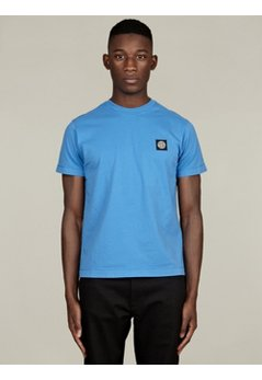 Men's Blue Basic Cotton T-Shirt