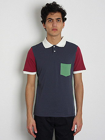This Is Not a Polo Shirt Colour Block Polo Shirt: Multi