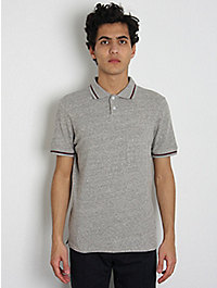 This Is Not a Polo Shirt Recycled Cotton Polo Shirt: Grey