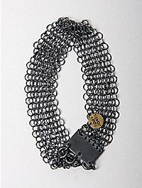 Toby Jones Shackles Cuff Silver Chain Maille Bracelet