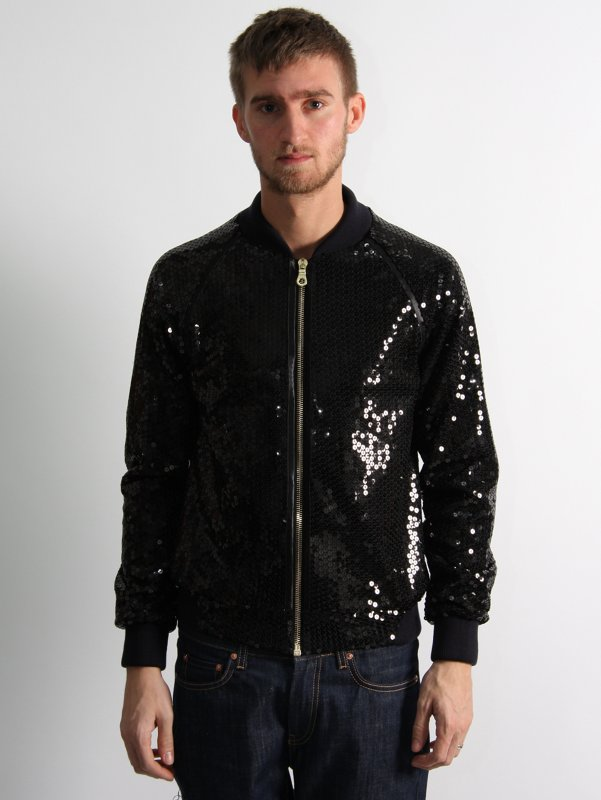TO ORIST Sequin Bomber