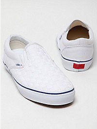 Vans Vault LX Woven Check Slip On Trainer