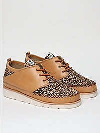 Volta Men's Pony Hair Animal Print Shoe