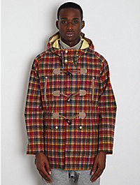 White Mountaineering Men's Goretex Check Duffle Coat  1